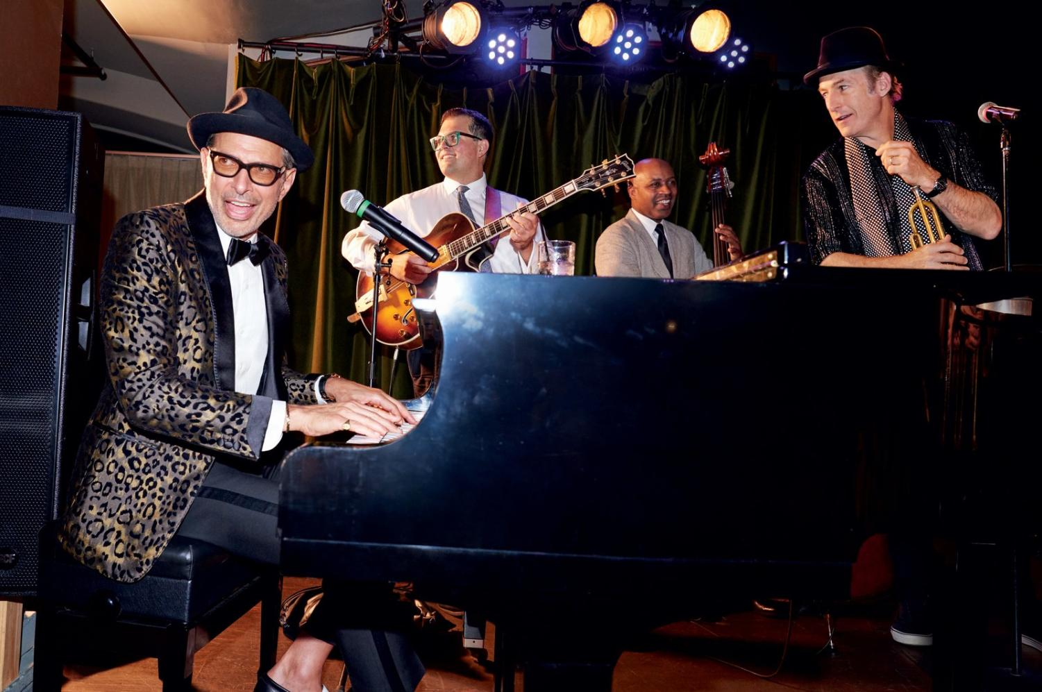 Jeff and the Mildred Snitzer Orchestra performing in LA.