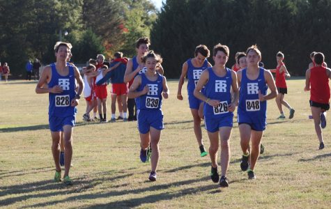 The cross-country team celebrates another successful year
