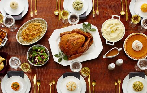 A traditional Thanksgiving dinner