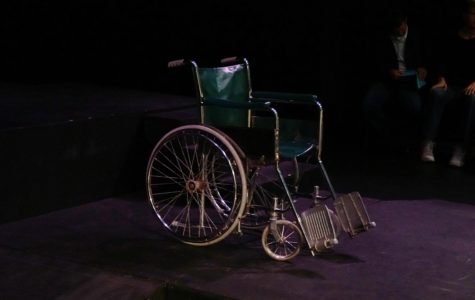 Wheelchair on stage