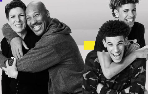 Tina and Lavar (pictured left) and sons Lonzo and Lamelo (pictured right)