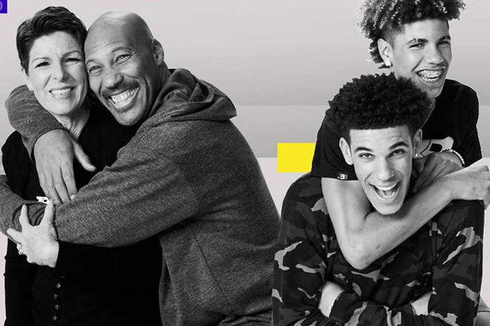 Tina+and+Lavar+%28pictured+left%29+and+sons+Lonzo+and+Lamelo+%28pictured+right%29