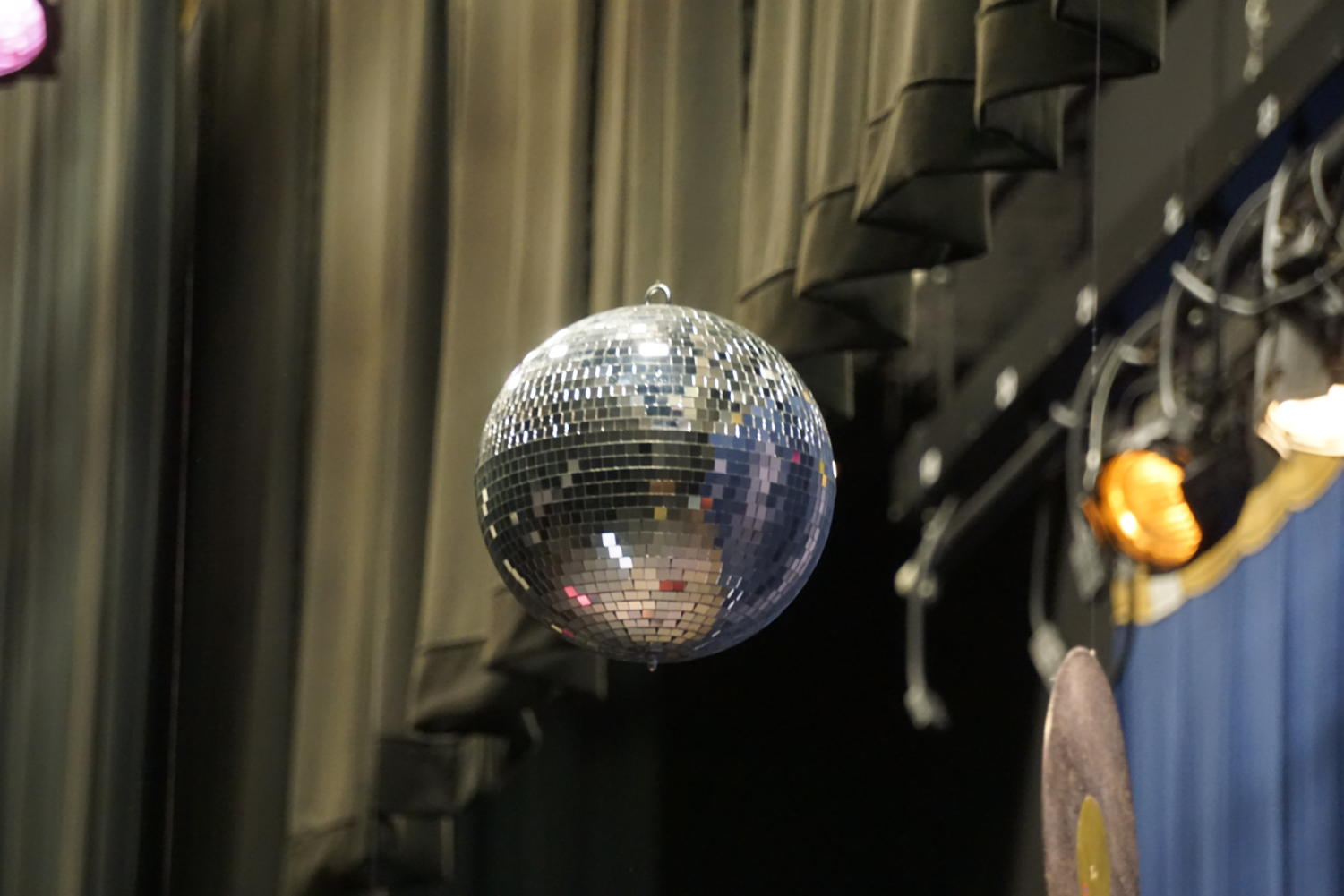 disco ball at Mr. TR