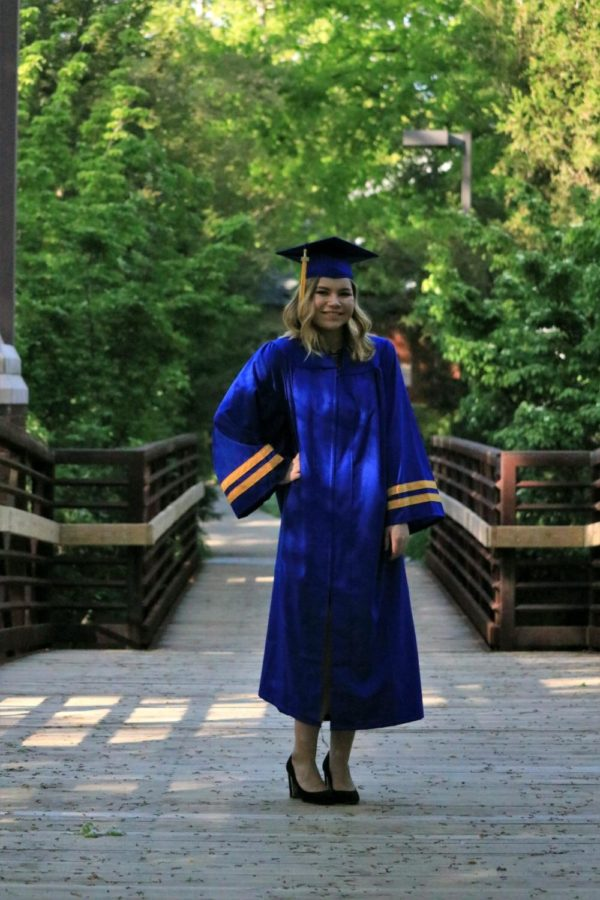 Haley Pardue poses in her graduation gown