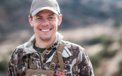 Host Steven Rinella cracks a smile during a hunt.