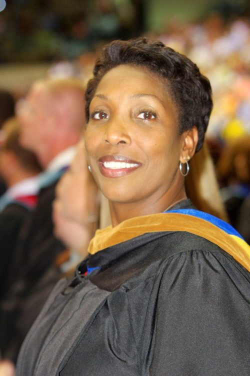 Ms. Brailsford at TRHS graduation.